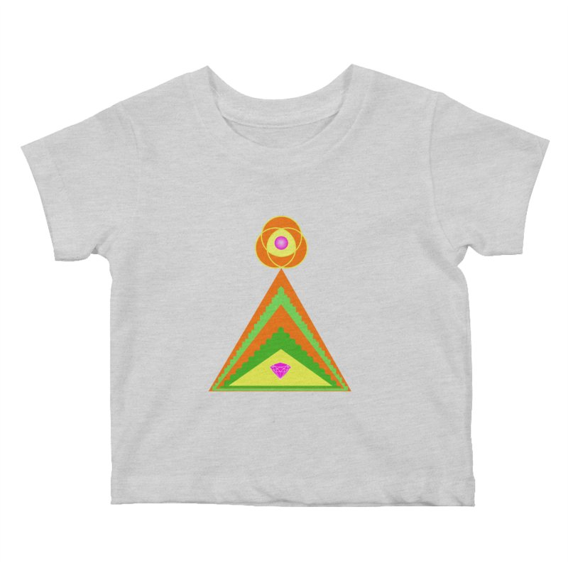 Diamond Pyramid Kids Baby T-Shirt by By the Ash Tree