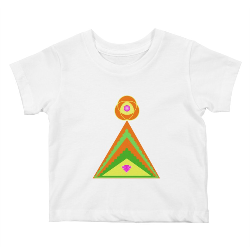 Within the Diamond Pyramid Kids Baby T-Shirt by By the Ash Tree