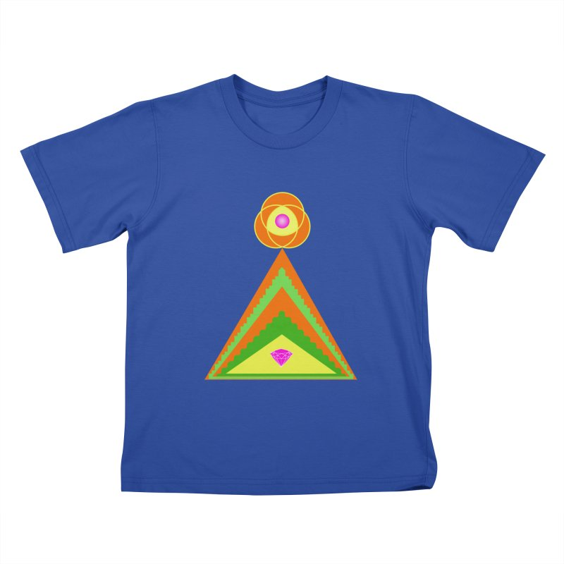 Diamond Pyramid Kids T-Shirt by By the Ash Tree