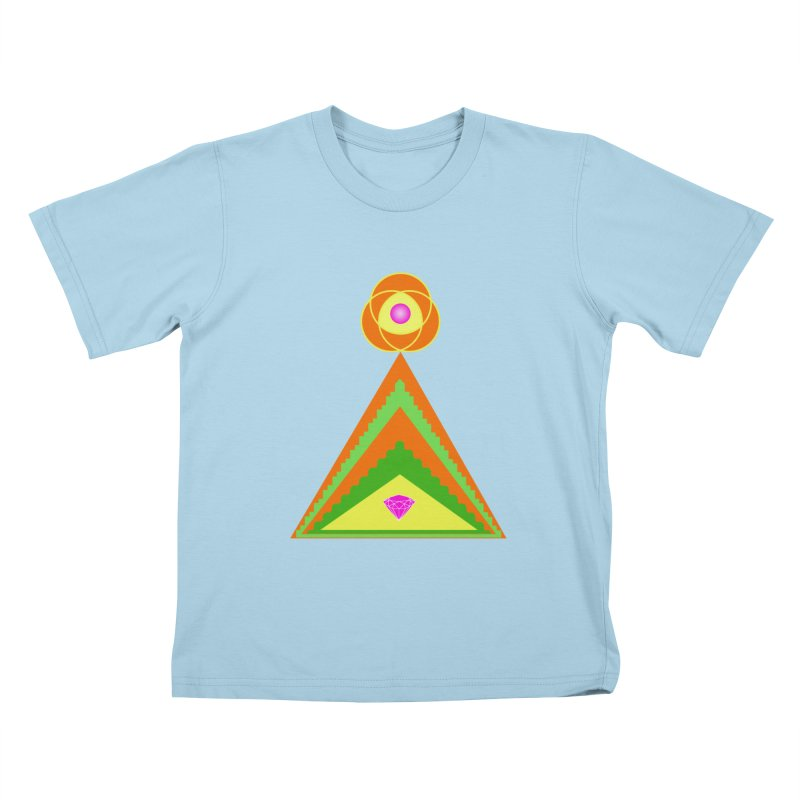 Within the Diamond Pyramid Kids T-Shirt by By the Ash Tree