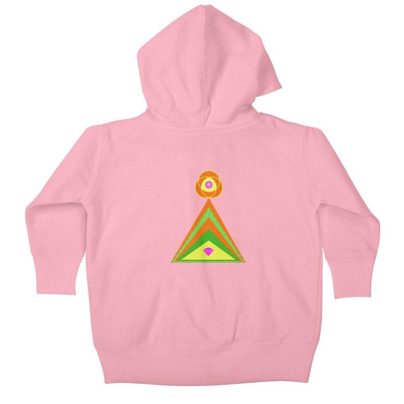 Diamond Pyramid Kids Baby Zip-Up Hoody by By the Ash Tree