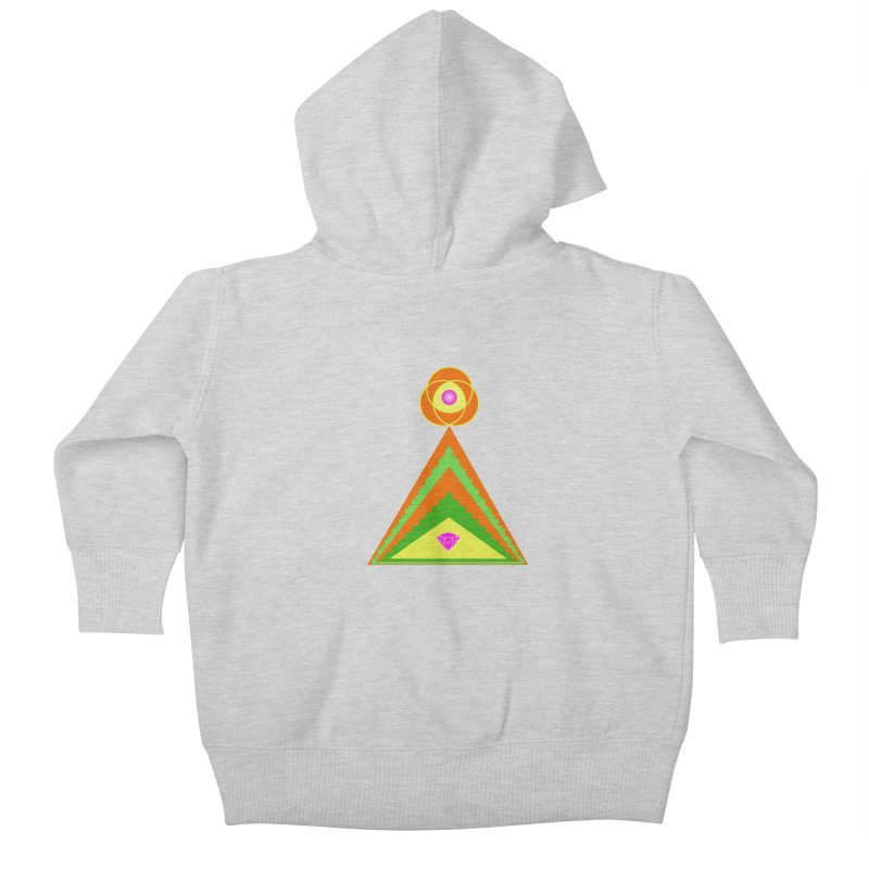 Within the Diamond Pyramid Kids Baby Zip-Up Hoody by By the Ash Tree