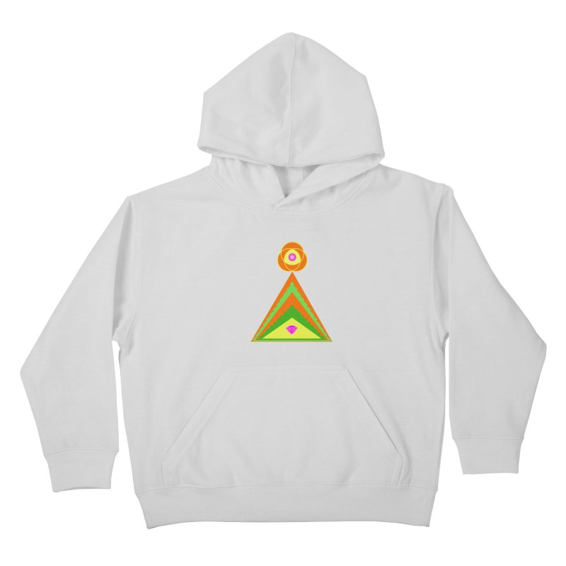 Diamond Pyramid Kids Pullover Hoody by By the Ash Tree