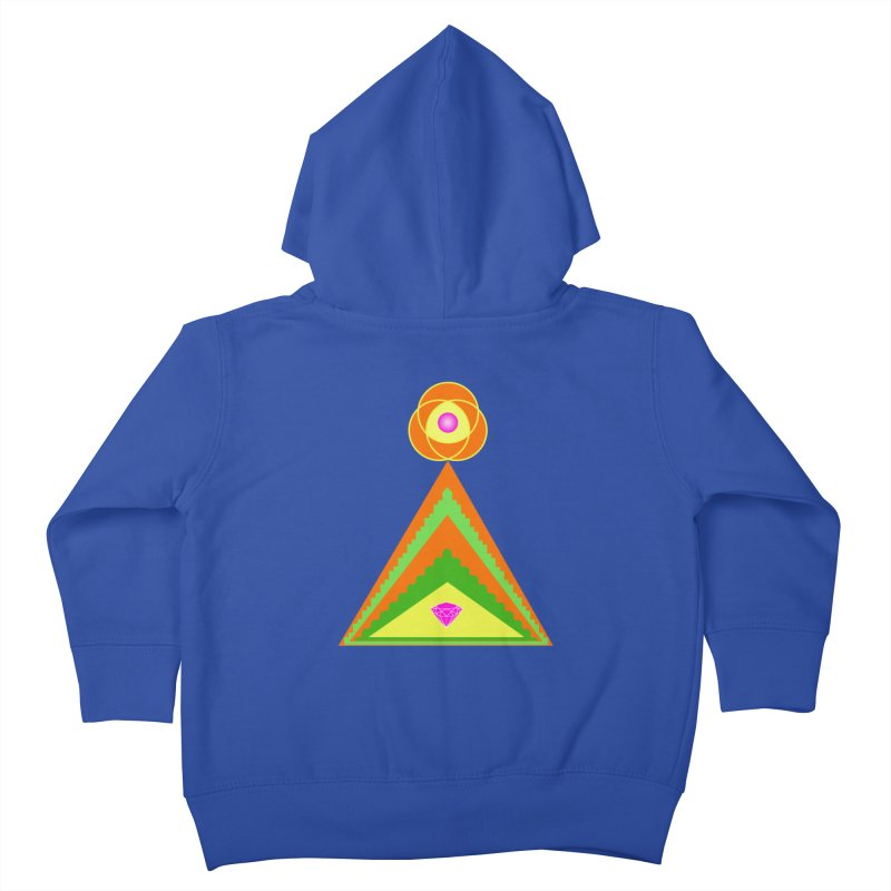 Within the Diamond Pyramid Kids Toddler Zip-Up Hoody by By the Ash Tree