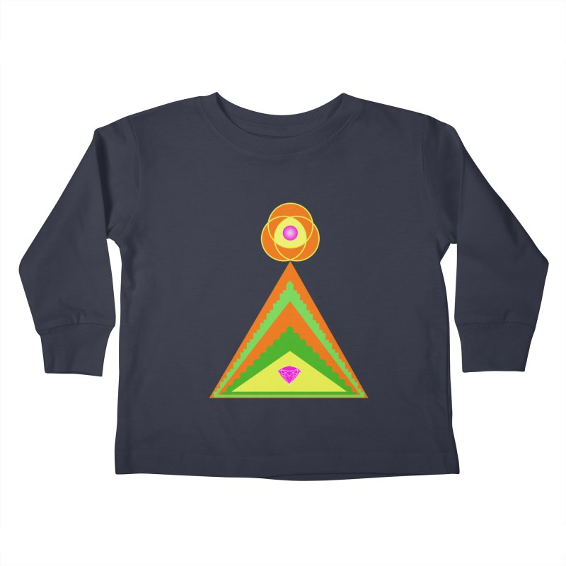 Within the Diamond Pyramid Kids Toddler Longsleeve T-Shirt by By the Ash Tree