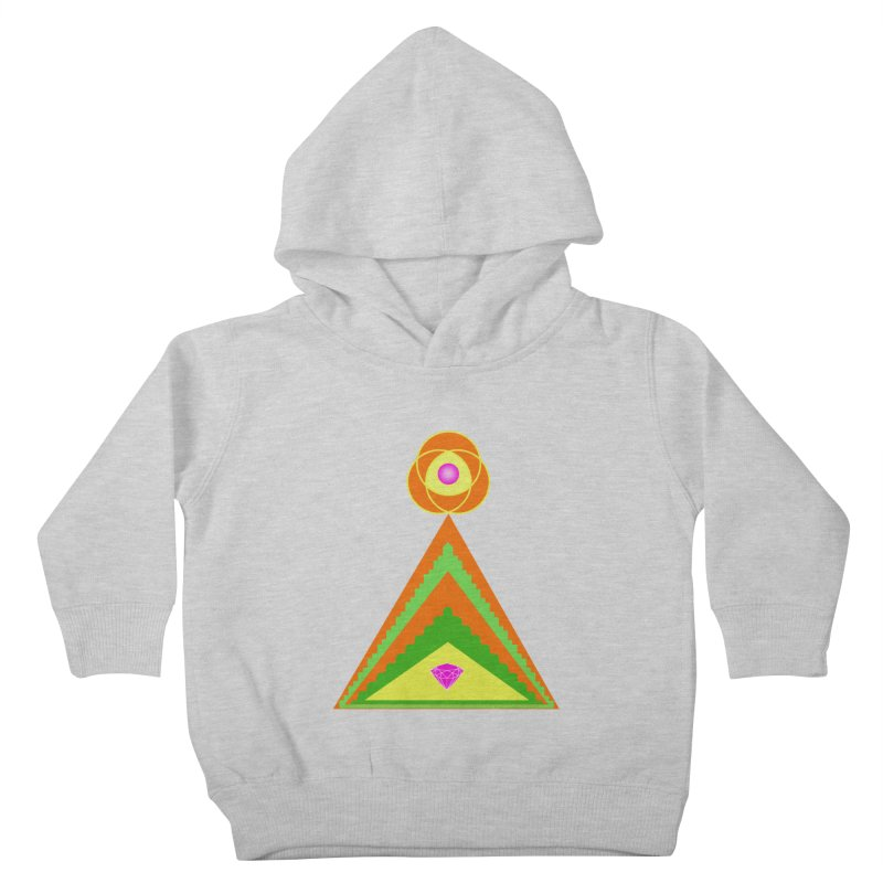 Within the Diamond Pyramid Kids Toddler Pullover Hoody by By the Ash Tree