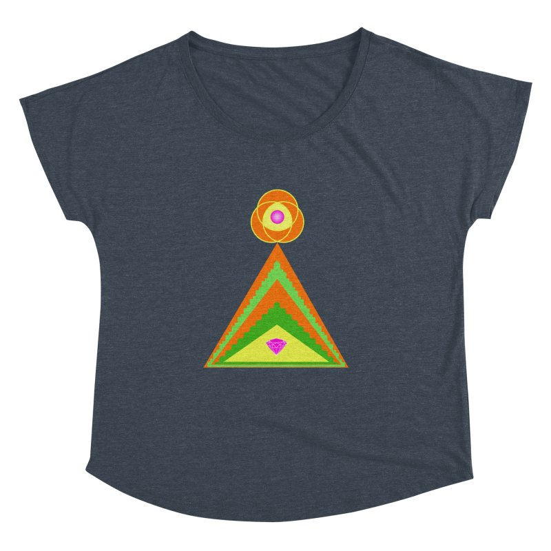 Within the Diamond Pyramid Women's Dolman Scoop Neck by By the Ash Tree