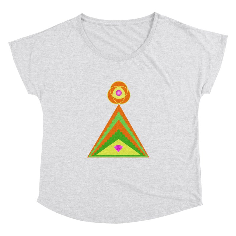 Diamond Pyramid Women's Dolman Scoop Neck by By the Ash Tree