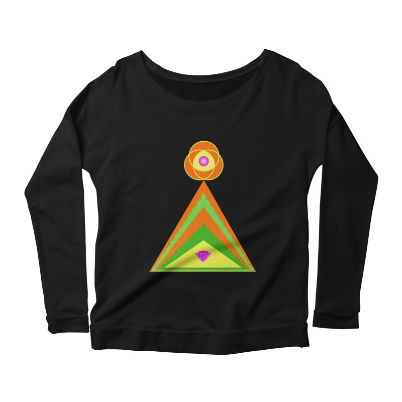 Within the Diamond Pyramid Women's Scoop Neck Longsleeve T-Shirt by By the Ash Tree