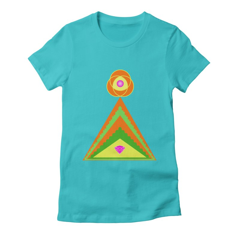 Within the Diamond Pyramid Women's Fitted T-Shirt by By the Ash Tree