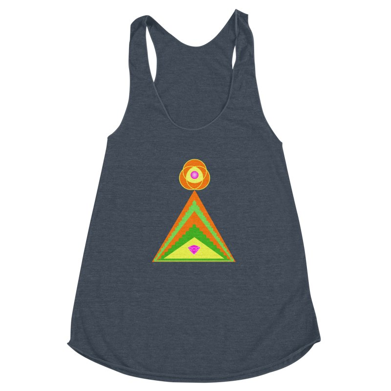 Within the Diamond Pyramid Women's Racerback Triblend Tank by By the Ash Tree