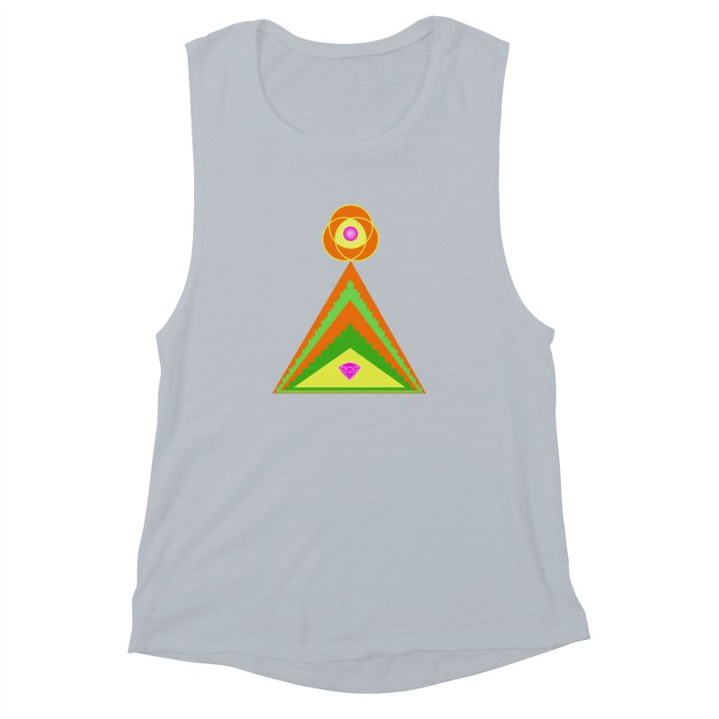 Diamond Pyramid Women's Muscle Tank by By the Ash Tree