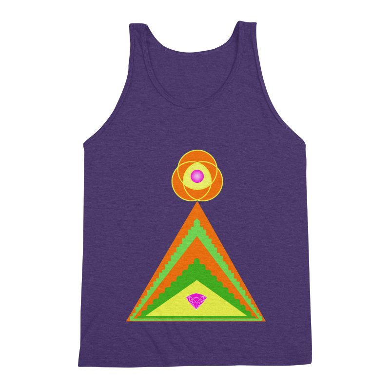 Within the Diamond Pyramid Men's Triblend Tank by By the Ash Tree