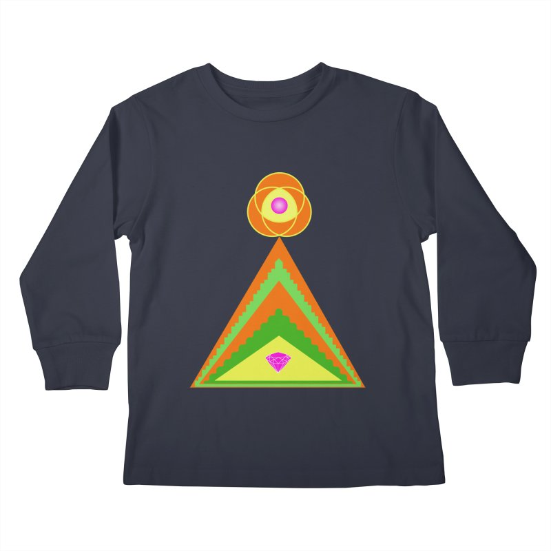 Within the Diamond Pyramid Kids Longsleeve T-Shirt by By the Ash Tree