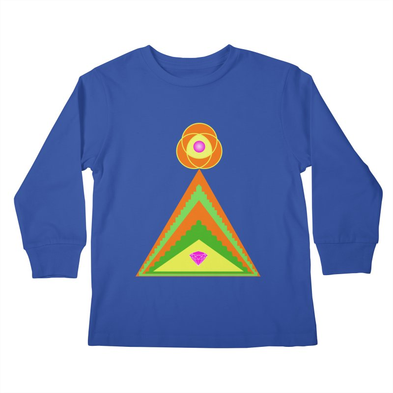 Diamond Pyramid Kids Longsleeve T-Shirt by By the Ash Tree