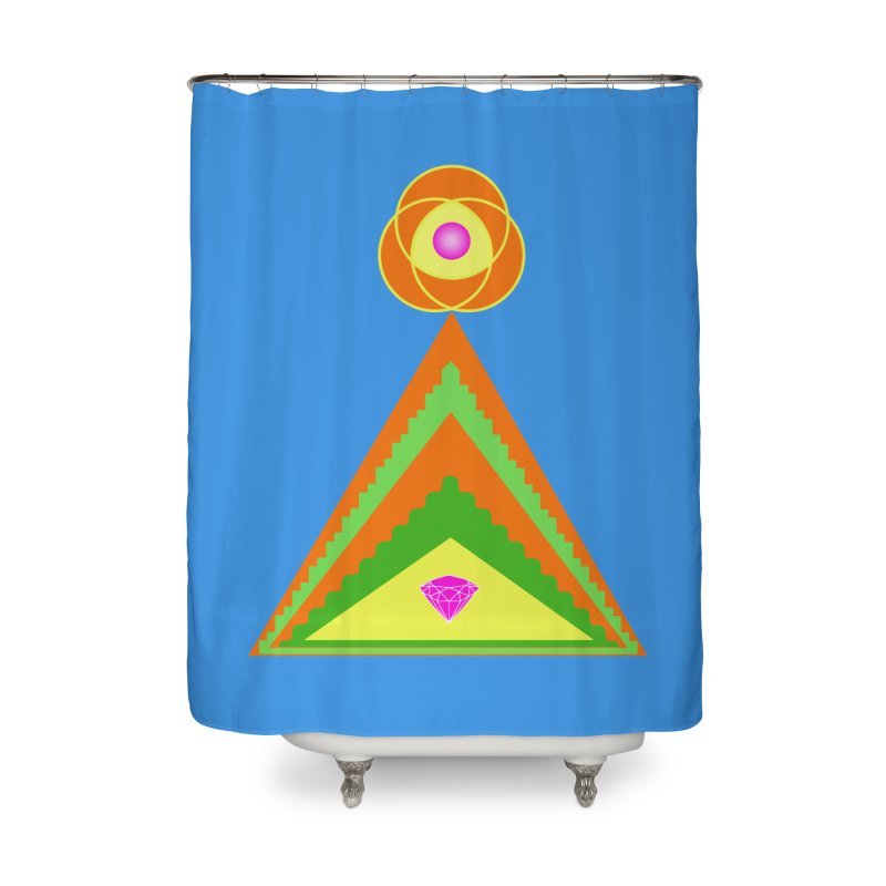 Within the Diamond Pyramid Home Shower Curtain by By the Ash Tree