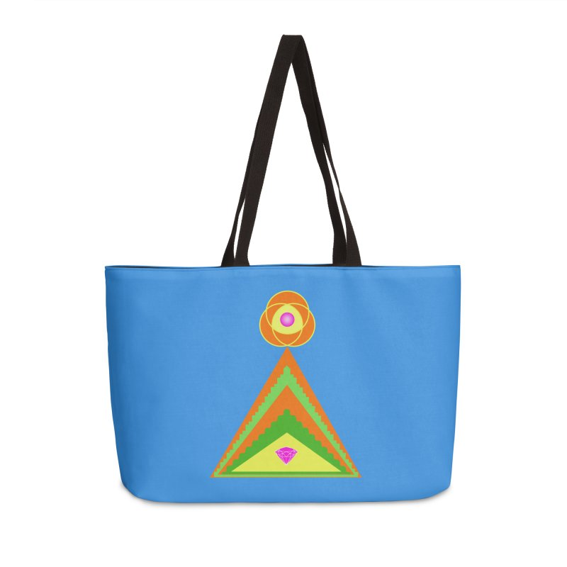 Within the Diamond Pyramid Accessories Weekender Bag Bag by By the Ash Tree