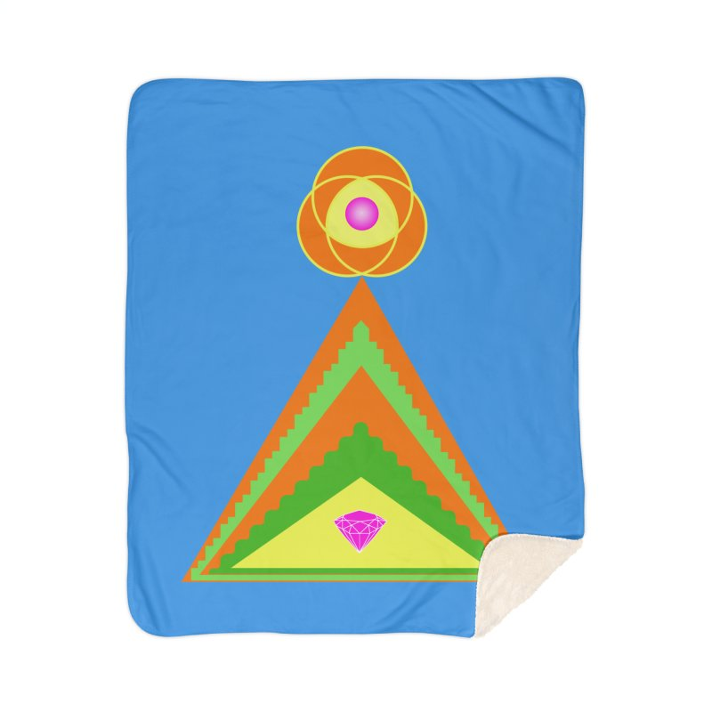 Within the Diamond Pyramid Home Sherpa Blanket Blanket by By the Ash Tree