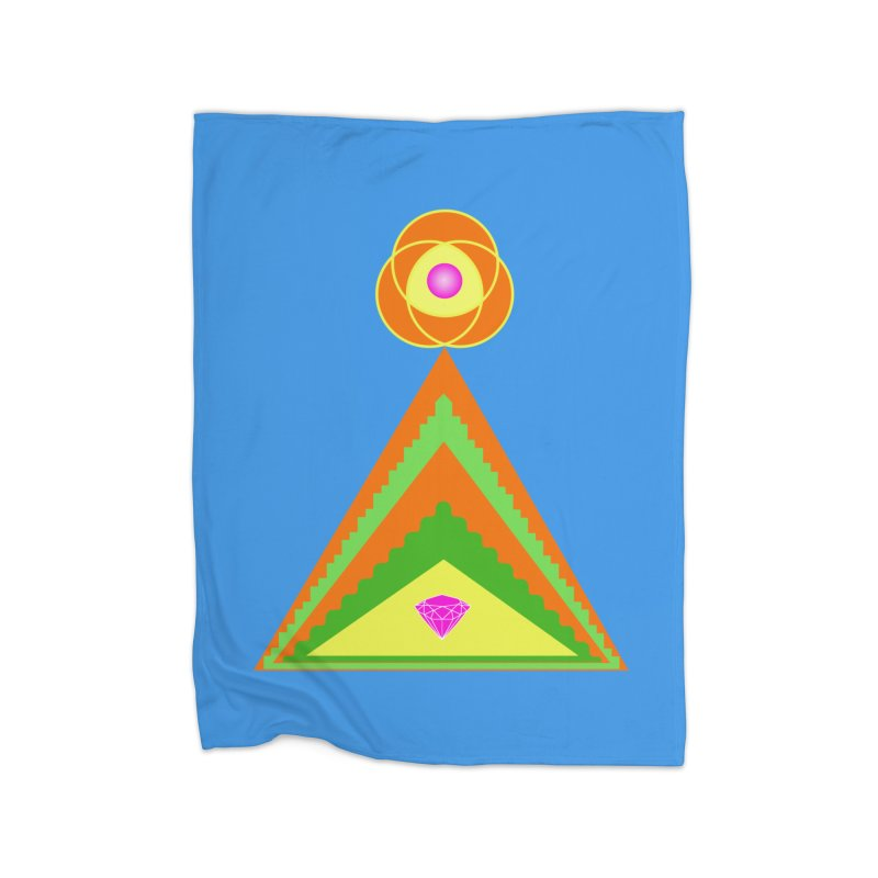 Within the Diamond Pyramid Home Fleece Blanket Blanket by By the Ash Tree