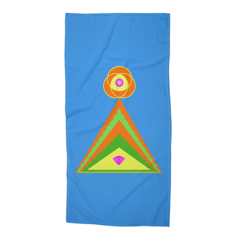 Within the Diamond Pyramid Accessories Beach Towel by By the Ash Tree