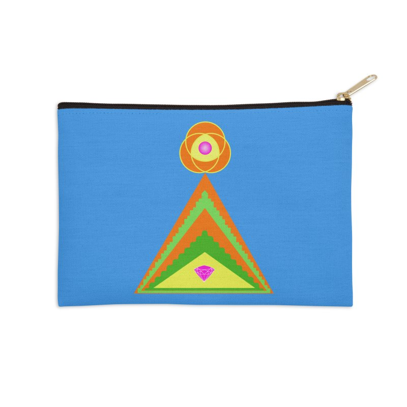 Within the Diamond Pyramid Accessories Zip Pouch by By the Ash Tree