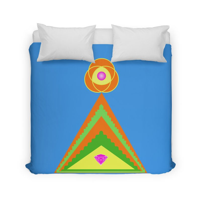 Within the Diamond Pyramid Home Duvet by By the Ash Tree