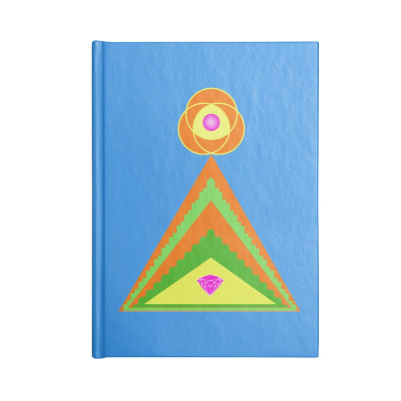 Within the Diamond Pyramid Accessories Blank Journal Notebook by By the Ash Tree
