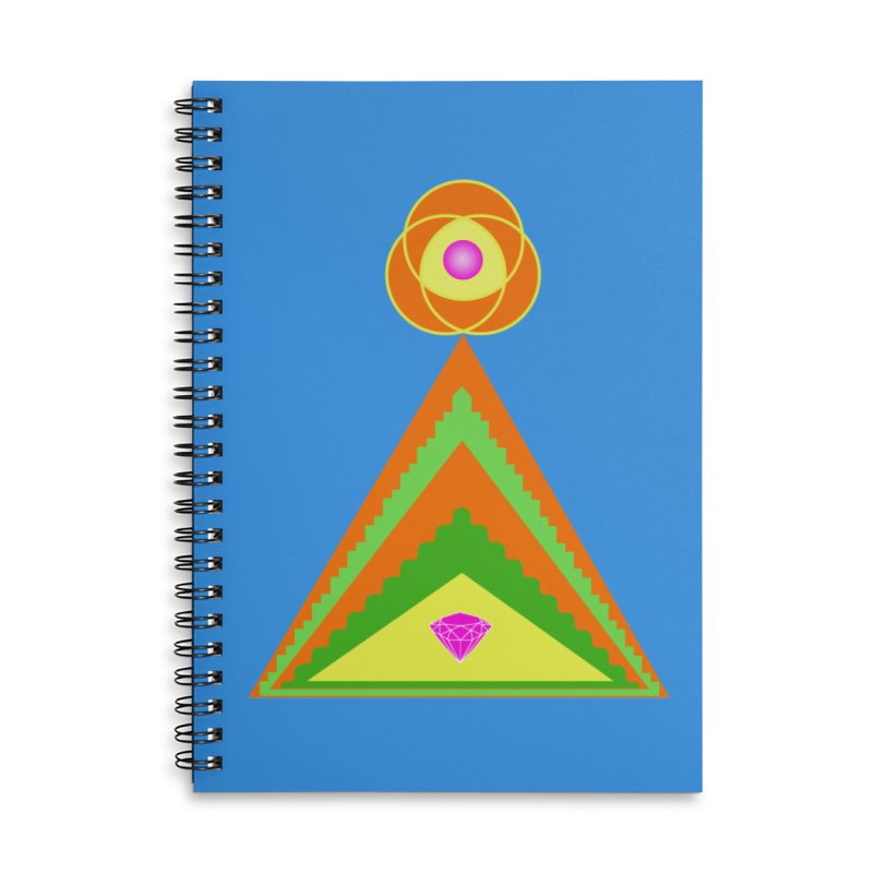 Diamond Pyramid Accessories Lined Spiral Notebook by By the Ash Tree