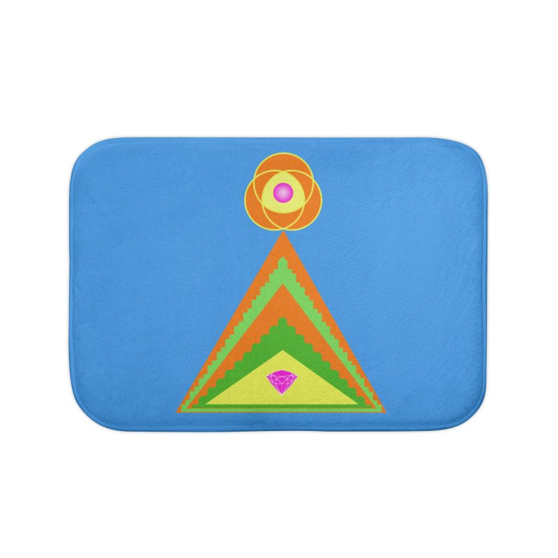 Within the Diamond Pyramid Home Bath Mat by By the Ash Tree