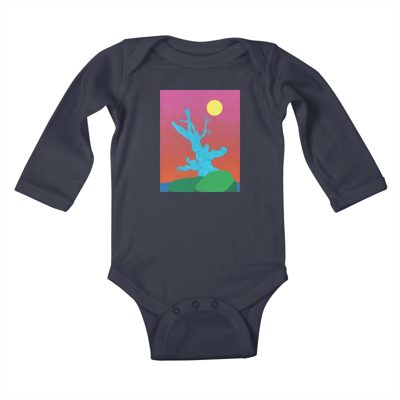 Gifting Tree Kids Baby Longsleeve Bodysuit by By the Ash Tree