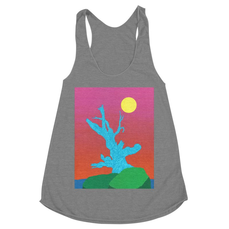 Gifting Tree Women's Racerback Triblend Tank by By the Ash Tree