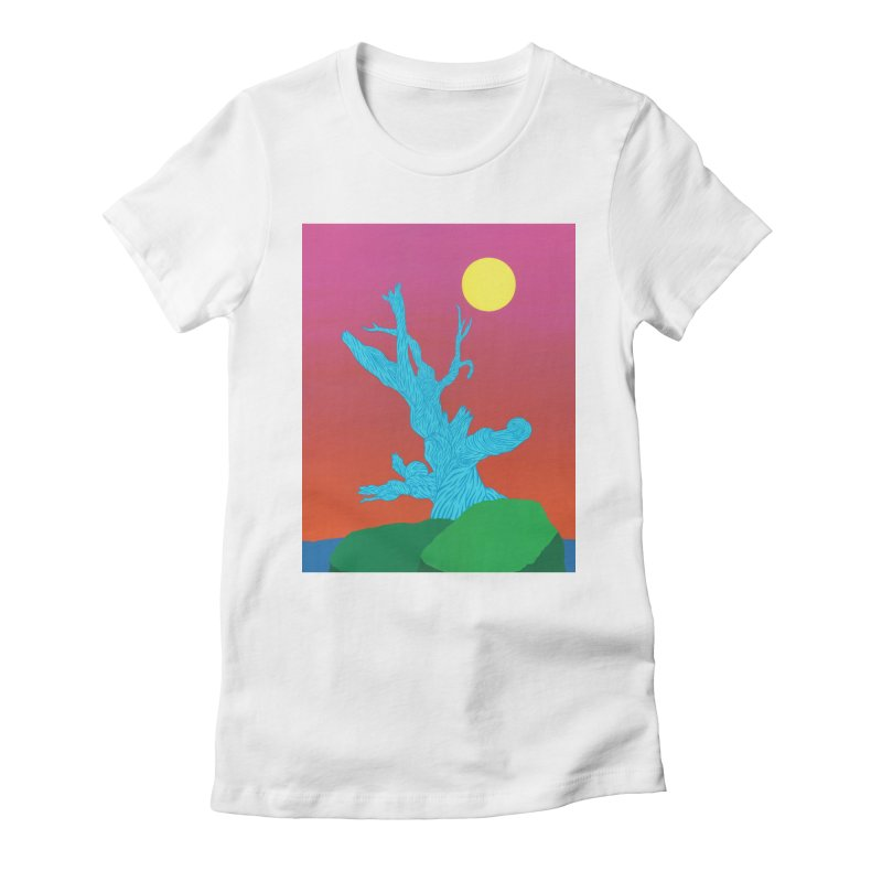 Gifting Tree Women's Fitted T-Shirt by By the Ash Tree