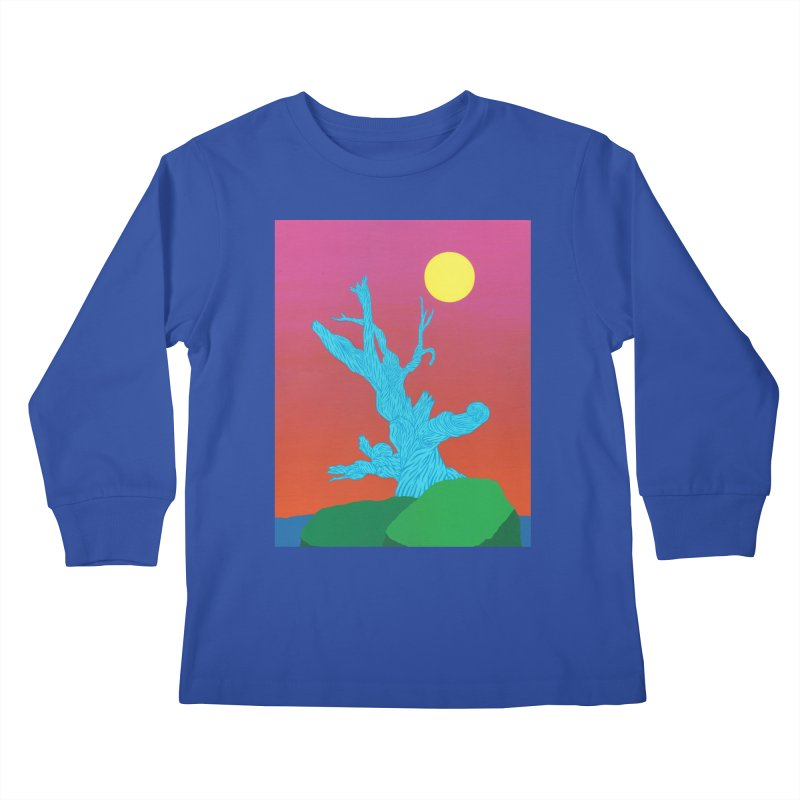 Gifting Tree Kids Longsleeve T-Shirt by By the Ash Tree