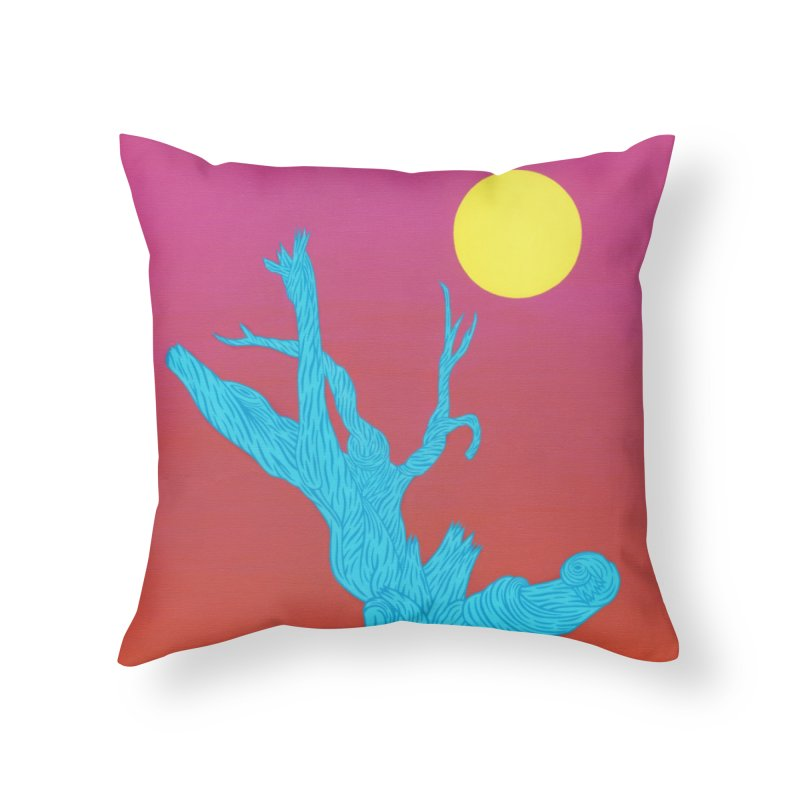 Gifting Tree Home Throw Pillow by By the Ash Tree