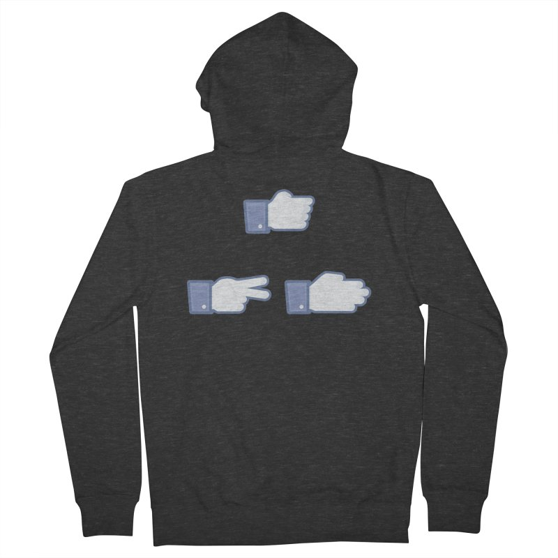 I Like Rock, Paper, Scissors Women's French Terry Zip-Up Hoody by Byway Design