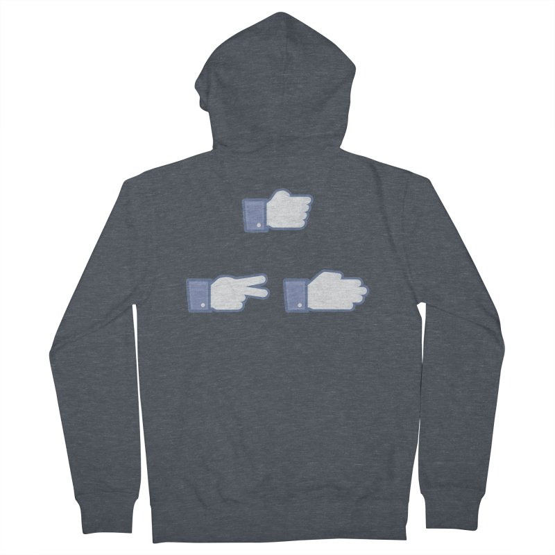 I Like Rock, Paper, Scissors Men's Zip-Up Hoody by Byway Design