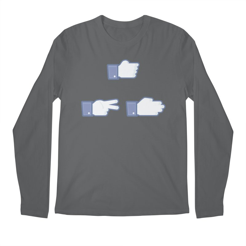 I Like Rock, Paper, Scissors Men's Regular Longsleeve T-Shirt by Byway Design