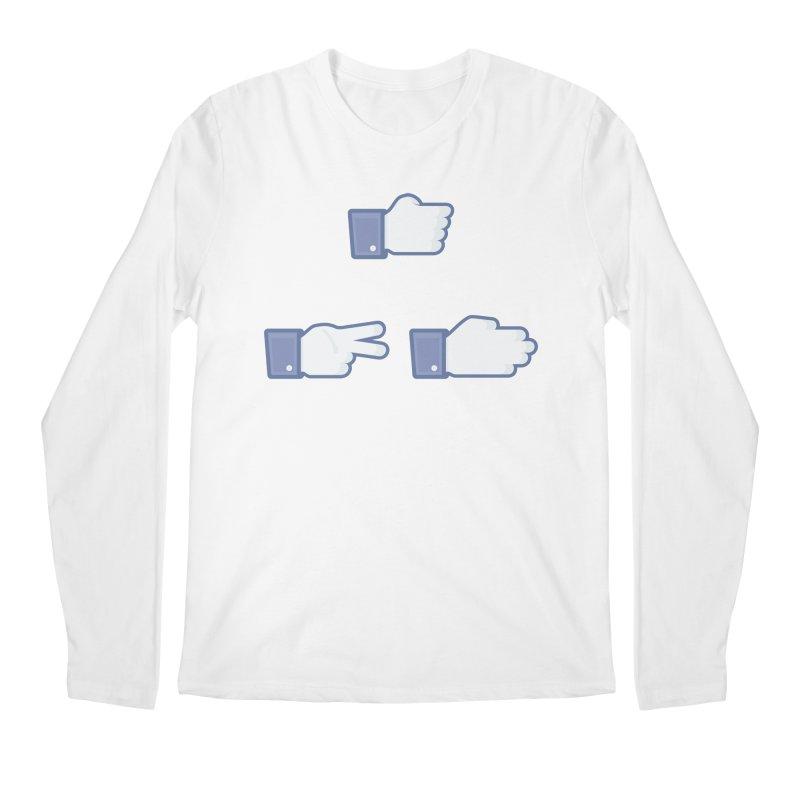 I Like Rock, Paper, Scissors Men's Longsleeve T-Shirt by Byway Design