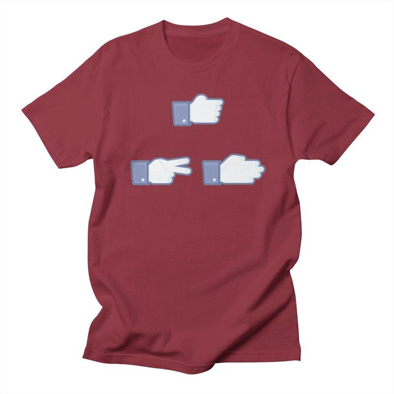 I Like Rock, Paper, Scissors Men's T-Shirt by Byway Design