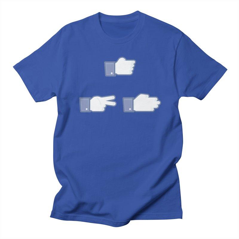 I Like Rock, Paper, Scissors Men's Regular T-Shirt by Byway Design