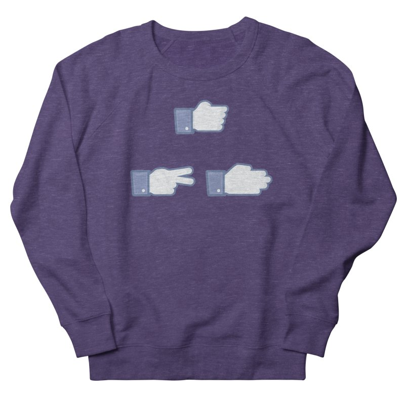 I Like Rock, Paper, Scissors Women's French Terry Sweatshirt by Byway Design