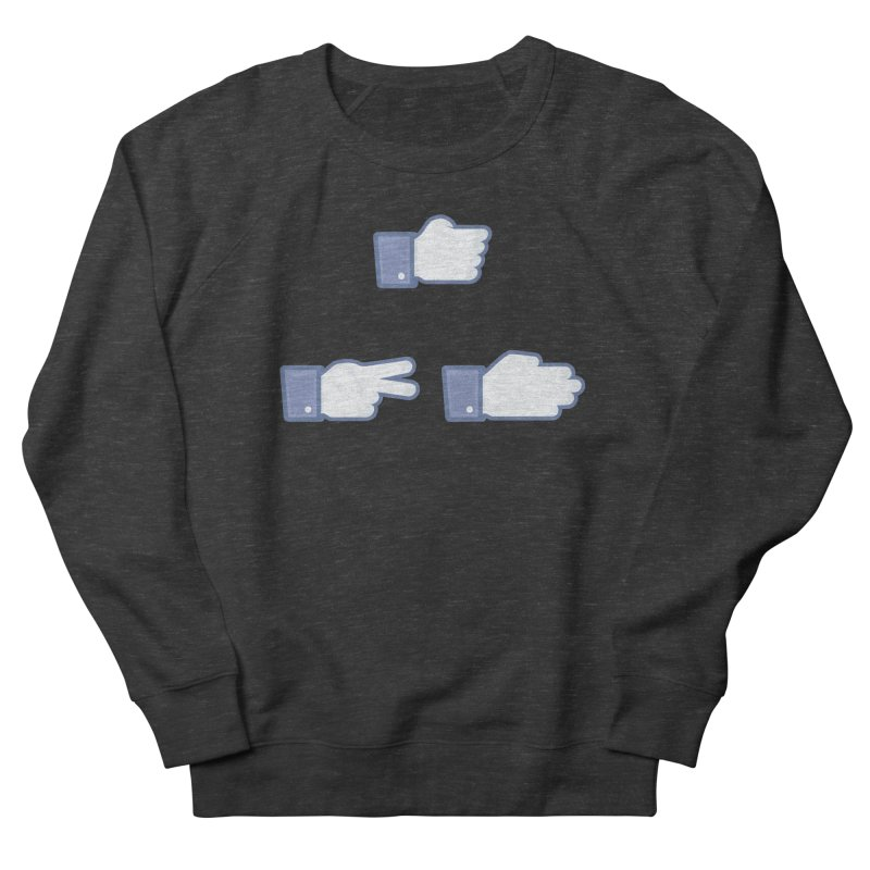 I Like Rock, Paper, Scissors Men's Sweatshirt by Byway Design