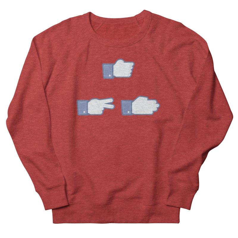 I Like Rock, Paper, Scissors Men's French Terry Sweatshirt by Byway Design