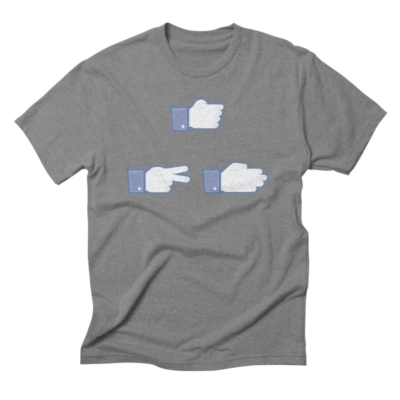 I Like Rock, Paper, Scissors Men's Triblend T-Shirt by Byway Design
