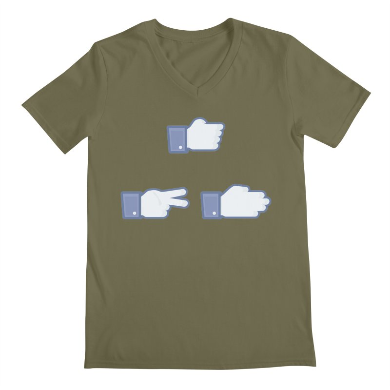 I Like Rock, Paper, Scissors Men's V-Neck by Byway Design