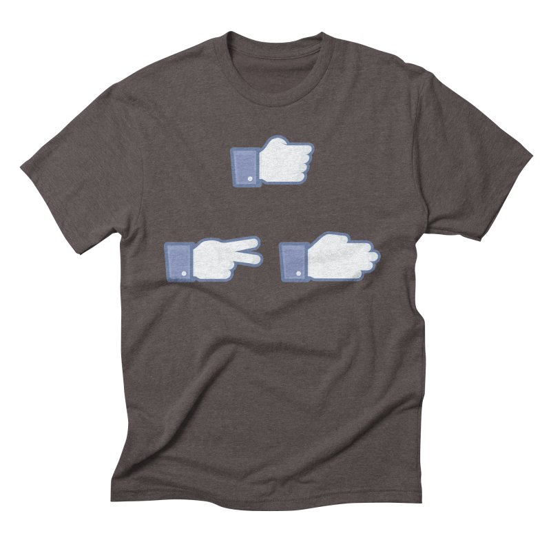 I Like Rock, Paper, Scissors Men's Triblend T-shirt by Byway Design