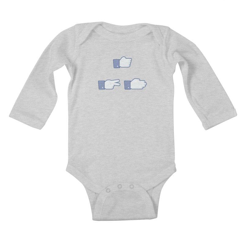 I Like Rock, Paper, Scissors Kids Baby Longsleeve Bodysuit by Byway Design
