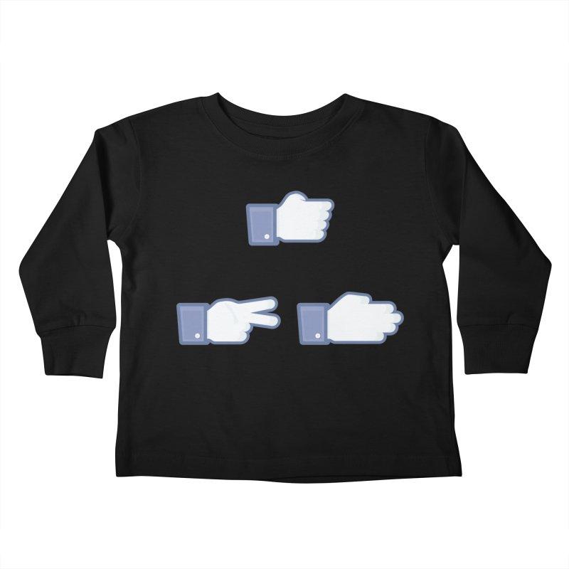 I Like Rock, Paper, Scissors Kids Toddler Longsleeve T-Shirt by Byway Design
