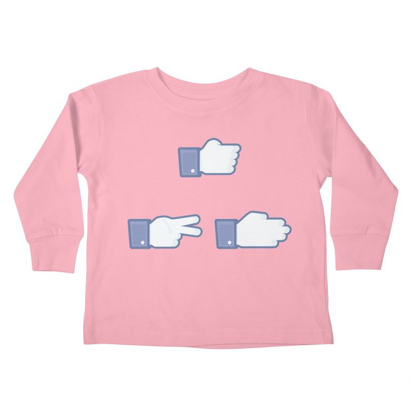 I Like Rock, Paper, Scissors Kids Toddler Longsleeve T-Shirt by Byway Design