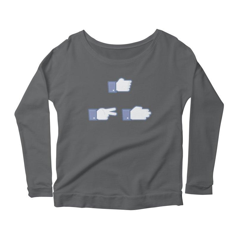 I Like Rock, Paper, Scissors Women's Scoop Neck Longsleeve T-Shirt by Byway Design